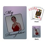 My Daughter Playing cards - Playing Cards Single Design