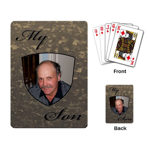 My Son Playing Cards By Deborah   Playing Cards Single Design   Tg8q9dy0gjze   Www Artscow Com Back