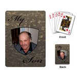 My Son Playing Cards - Playing Cards Single Design