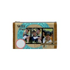 We Are Happy Family By Joely   Cosmetic Bag (small)   Hd7vq33wtr7n   Www Artscow Com Front