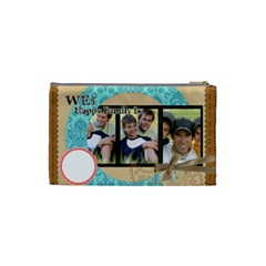 We Are Happy Family By Joely   Cosmetic Bag (small)   Hd7vq33wtr7n   Www Artscow Com Back