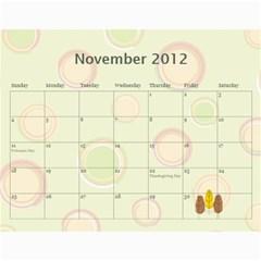 Calendar By Design001   Wall Calendar 11  X 8 5  (12 Months)   Bvhywj0z5vjr   Www Artscow Com Nov 2012