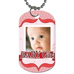 baby girl - Dog Tag (One Side)