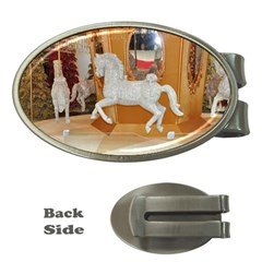 White Horse Money Clip (oval) by berry3333