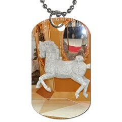 White Horse Dog Tag (one Side) by berry3333