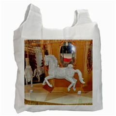 White Horse Recycle Bag (one Side) by berry3333