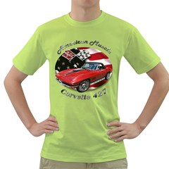 Chevy Corvette 427 Green T-Shirt by BlueRidgeArtisans
