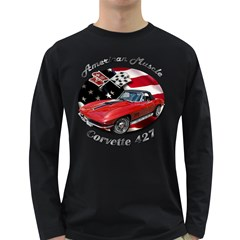 Chevy Corvette 427 Long Sleeve Dark T-Shirt by BlueRidgeArtisans