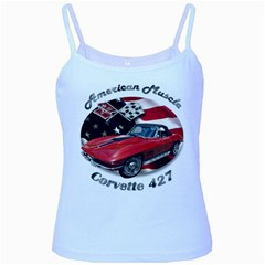 Chevy Corvette 427 Baby Blue Spaghetti Tank by BlueRidgeArtisans