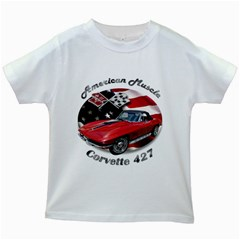 Chevy Corvette 427 Kids White T-Shirt by BlueRidgeArtisans