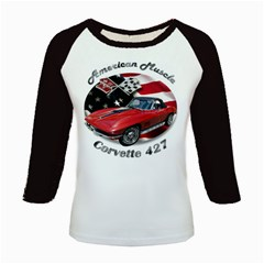 Chevy Corvette 427 Kids Baseball Jersey by BlueRidgeArtisans