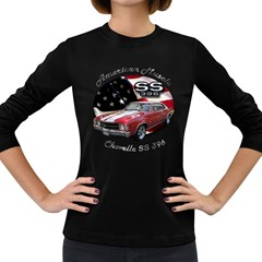 Chevy Chevelle SS 396 Women s Long Sleeve Dark T-Shirt by BlueRidgeArtisans