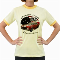 Chevy Chevelle SS 396 Women s Fitted Ringer T-Shirt by BlueRidgeArtisans