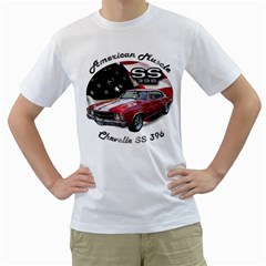Chevy Chevelle SS 396 White T-Shirt by BlueRidgeArtisans