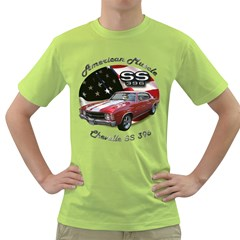 Chevy Chevelle SS 396 Green T-Shirt by BlueRidgeArtisans