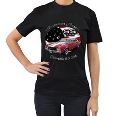 Chevy Chevelle SS 396 Women s Black T-Shirt (Two Sides) by BlueRidgeArtisans