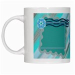 Blue flower mug - White Mug