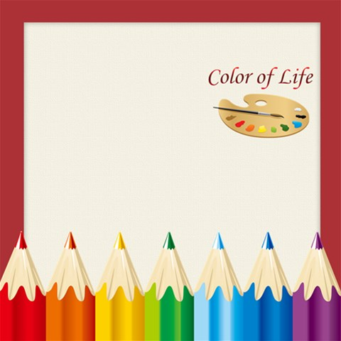 Color Of Life By Wood Johnson   Scrapbook Page 12  X 12    Sq9jqdr9lvub   Www Artscow Com 12 x12 Scrapbook Page - 1