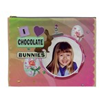 I Love Chocolate Bunnies XL Easter Treat Bag (Cosmetic Bag) - Cosmetic Bag (XL)