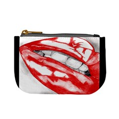 Hot-Lips Scarlet Mini Coin Purse by Handdrawn