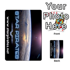 Star Pirates Fleet Wars By Victor Flu   Multi Purpose Cards (rectangle)   N6jqnd7qv2gn   Www Artscow Com Back 9
