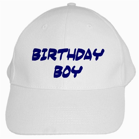 Birthday Boy Cap By Eleanor Norsworthy   White Cap   8we2yr5n7yhj   Www Artscow Com Front