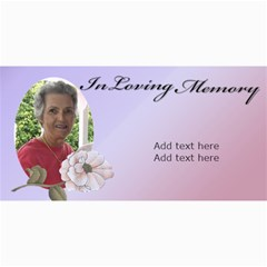 In Loving Memory (lady) By Deborah   4  X 8  Photo Cards   0rs4jeg5tczt   Www Artscow Com 8 x4 Photo Card - 8