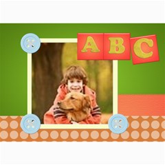 Abc By Wood Johnson   5  X 7  Photo Cards   Lua0eafn3uio   Www Artscow Com 7 x5 Photo Card - 5