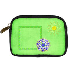 Celebrate In The Sun Camera Bag 1 By Lisa Minor   Digital Camera Leather Case   Wwe9attdwvrg   Www Artscow Com Front