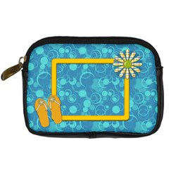 Sunshine Beach Camera Bag 1 By Lisa Minor   Digital Camera Leather Case   Gnwca1osz359   Www Artscow Com Front