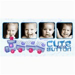 Cute As a Button Photo Card - 4  x 8  Photo Cards