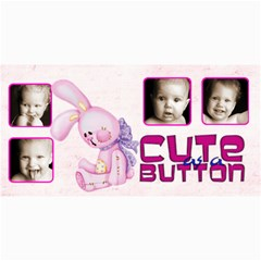 Cute As A Button Pink Bunny Photo Card By Catvinnat   4  X 8  Photo Cards   K08u7k9hmvc7   Www Artscow Com 8 x4 Photo Card - 8