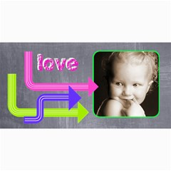 Love Vibrant Arrows Photo Card By Catvinnat   4  X 8  Photo Cards   Lnj9o66krq4s   Www Artscow Com 8 x4 Photo Card - 3