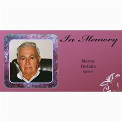 In Memory (male) Photo Card (10) By Deborah   4  X 8  Photo Cards   Fyy9p39hbore   Www Artscow Com 8 x4 Photo Card - 10
