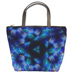 Fractal Blue Dreams Bucket Bag
