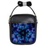 Fractal Blue Dreams Girls Sling Bag