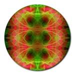 Fractal Fluro 005 Round Mousepad
