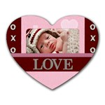 Love xoxo Heart Mousepad