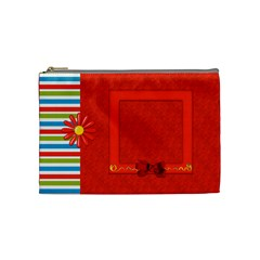Sunshine Beach Medium Cosmetic Bag 1 By Lisa Minor   Cosmetic Bag (medium)   Poeuyoqobok9   Www Artscow Com Front