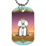 White Poodle Prince Dog Tag (Two Sides)