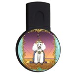 White Poodle Prince USB Flash Drive Round (1 GB)