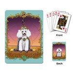 White Poodle Prince Playing Cards Single Design