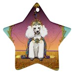 White Poodle Prince Star Ornament (Two Sides)