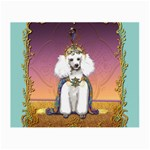 White Poodle Prince Glasses Cloth (Small, Two Sides)