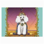 White Poodle Prince Glasses Cloth (Large, Two Sides)