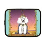 White Poodle Prince Netbook Case (Small)