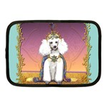 White Poodle Prince Netbook Case (Medium)