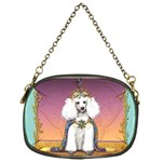 White Poodle Prince Chain Purse (One Side)
