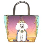 White Poodle Prince Bucket Bag