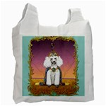 White Poodle Prince Recycle Bag (Two Side)